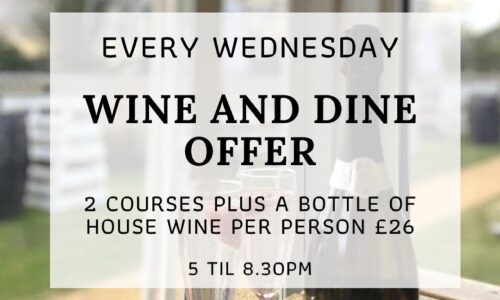 Wine & Dine every Wednesday at Rowton Poplars!
